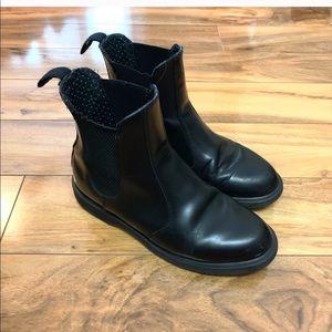 Black Flora Doc Martens Chelsea Boots Size 8
